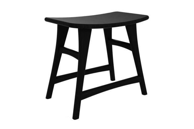 Black stained oak - Osso stool made by Ethnicraft