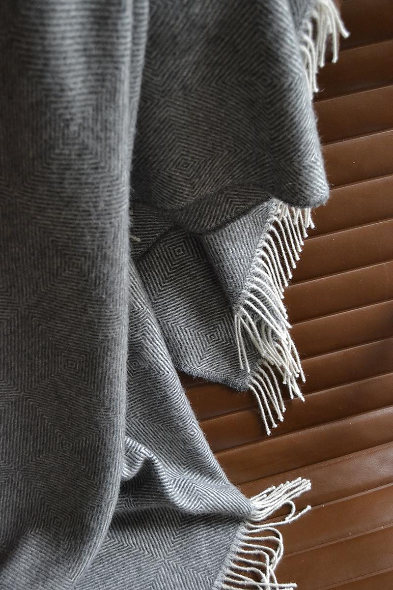 Bronte - Alpaca throw - herringbone