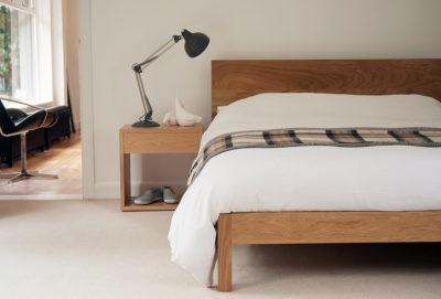 modern oak bed - malabar