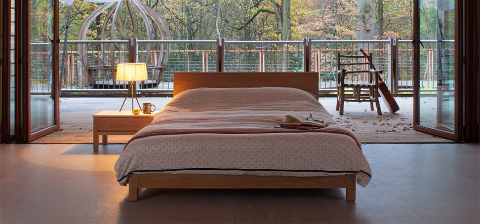 Sonora contemporary wooden bed from the Natural Bed Company