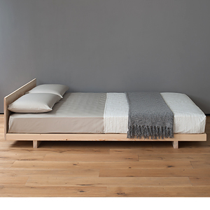 Kobe low bed solid wood natural bed company for Low to ground beds