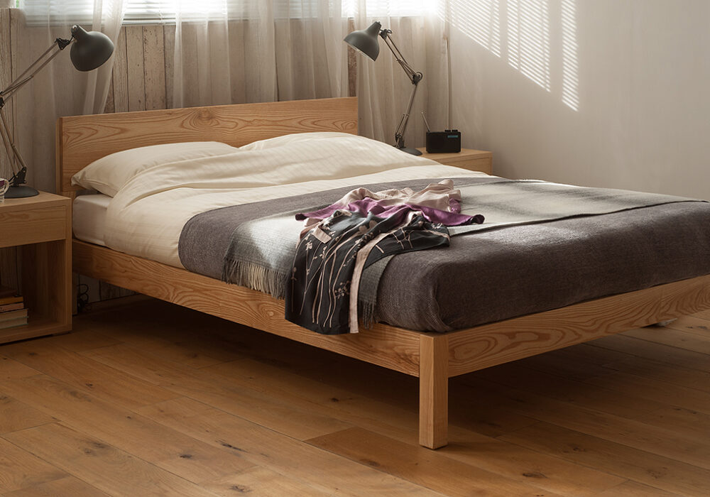 Sahara is a contemporary low wooden bed available in a choice of wood and in a range of bed sizes