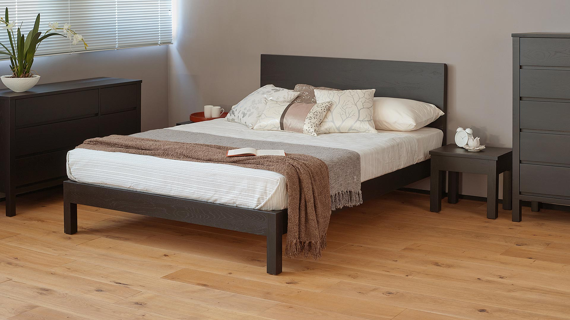Malabar Black Wood Bed