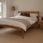 The Cochin contemporary classic wooden bed, here made in Oak