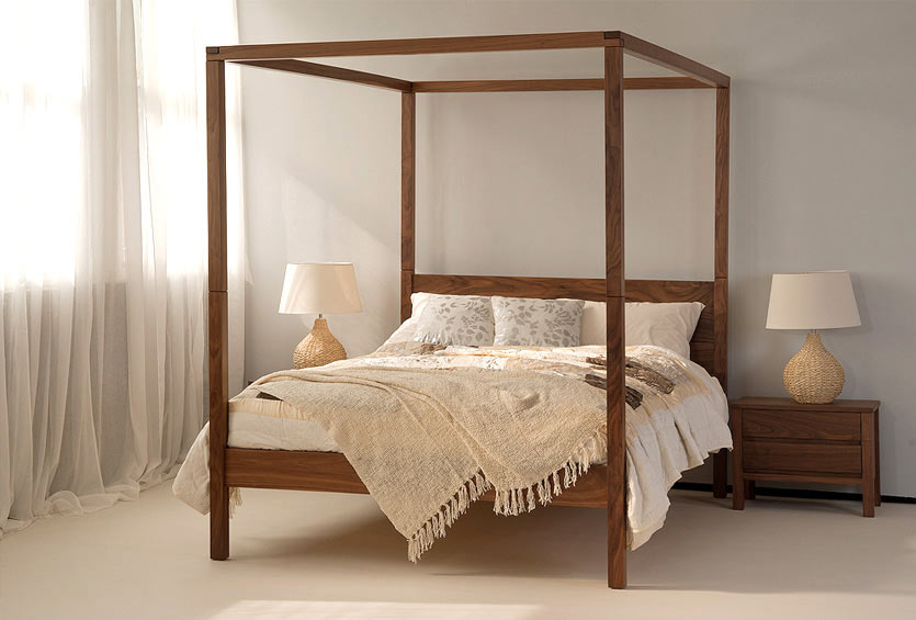 orchid contemporary solid wood four poster bed