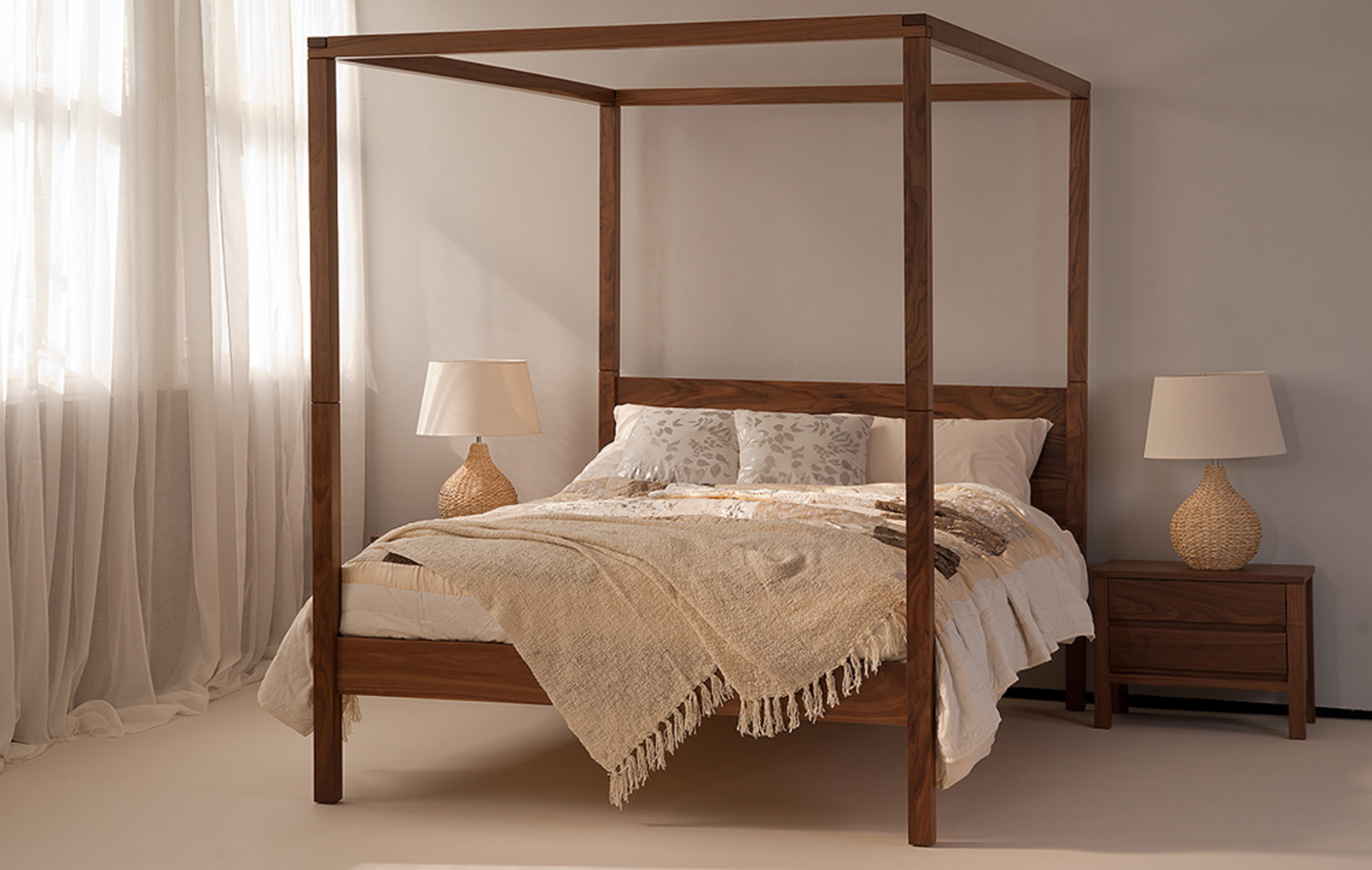 orchid contemporary four poster bed