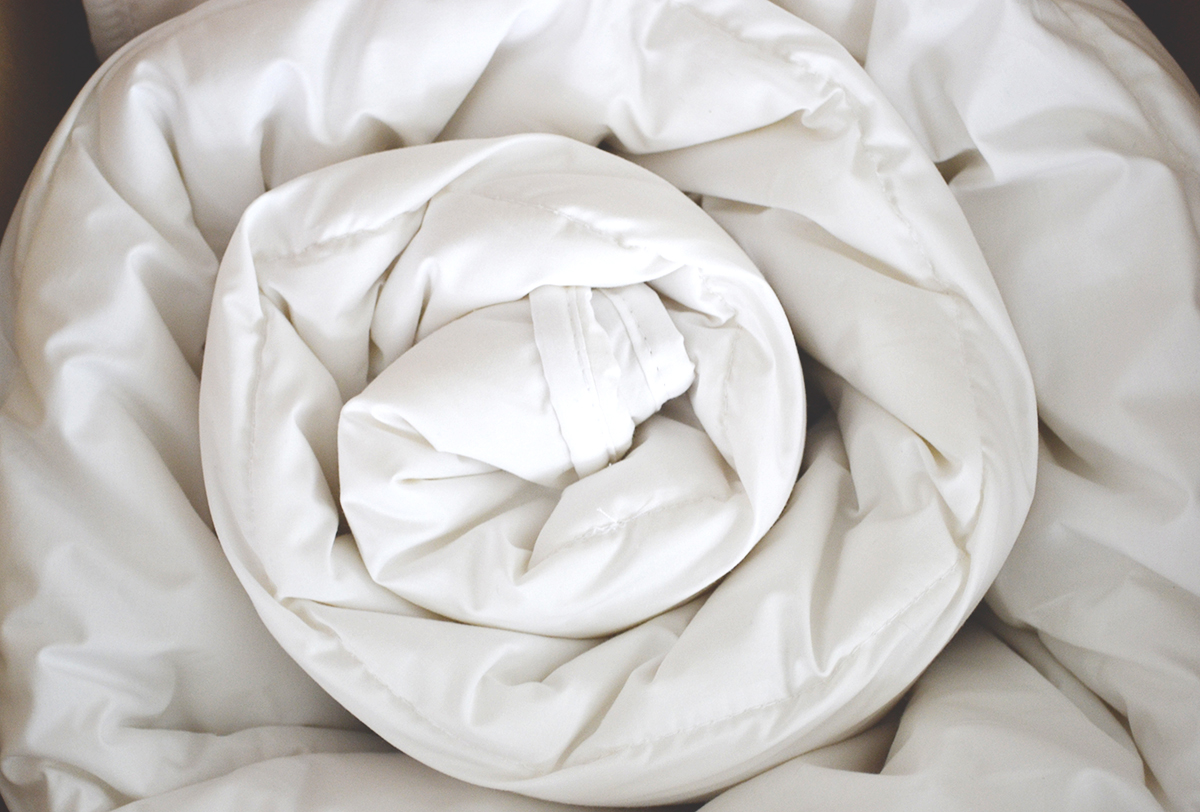 how to clean a down filled duvet