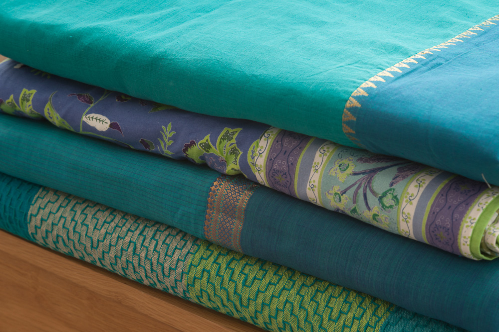 Turquoise Duvet Cover: Hyderabad - Kingfisher