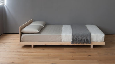 kobe low pine bed - side