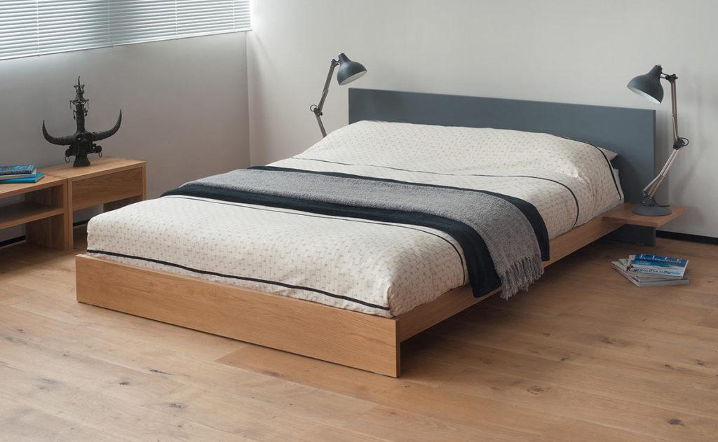 Koo coloured headboard bed