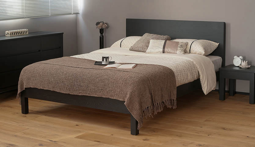 Modern Wooden Beds ~ Black wood bed malabar contemporary natural