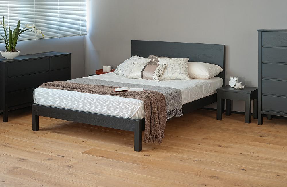 Malabar contemporary wooden bed natural company