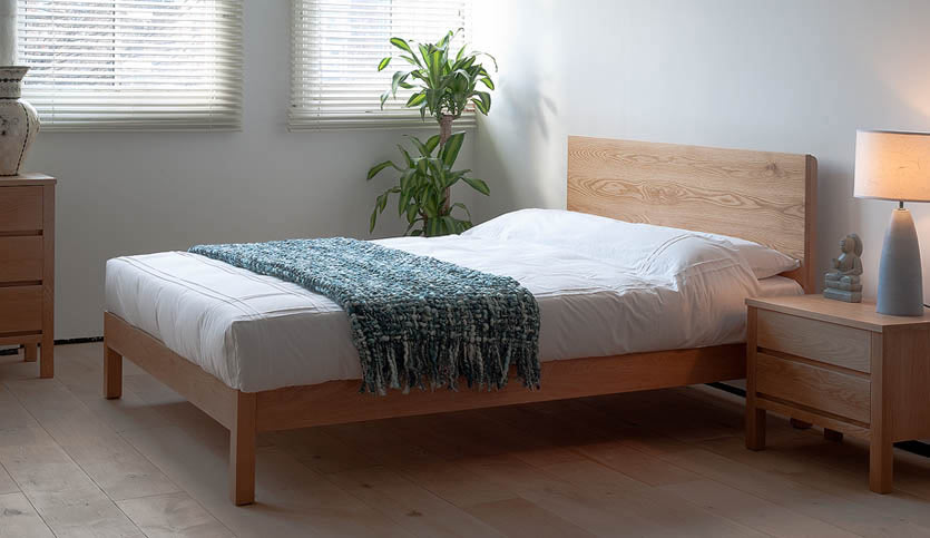 malabar contemporary wooden bed