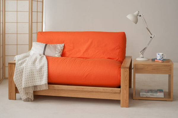 Panama with coral cotton drill cover