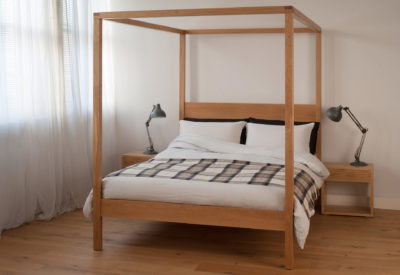 orchid four poster bed in oak
