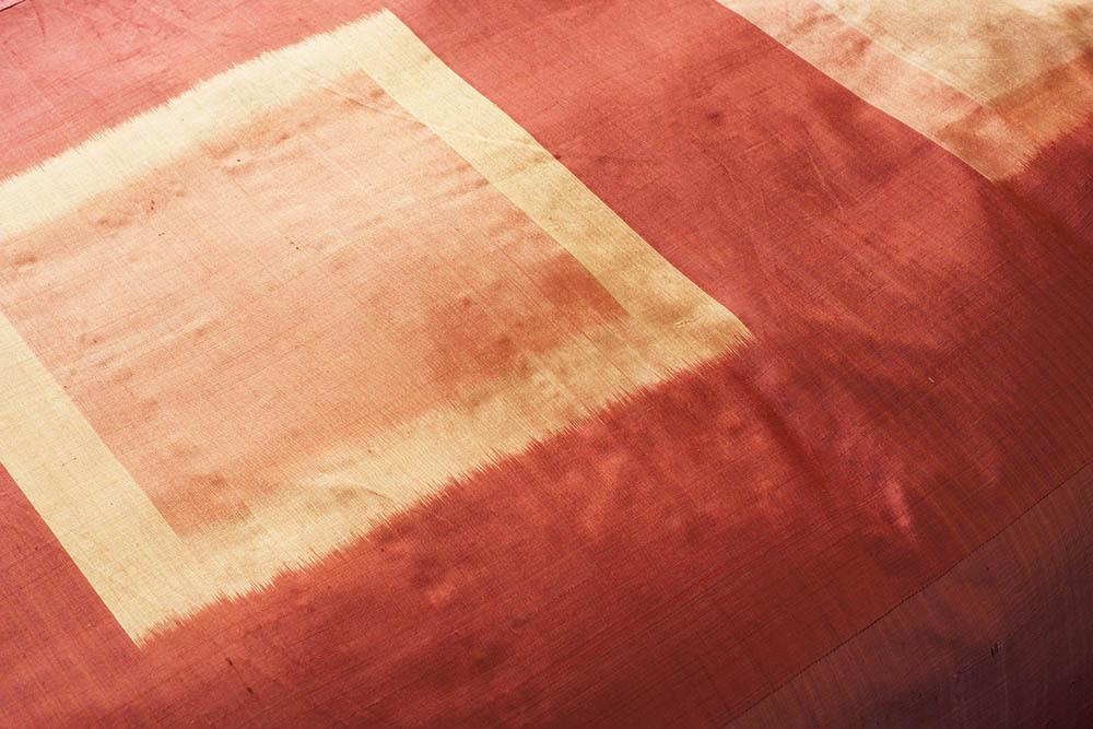 Pha Tung Silk Duvet Cover, Flame