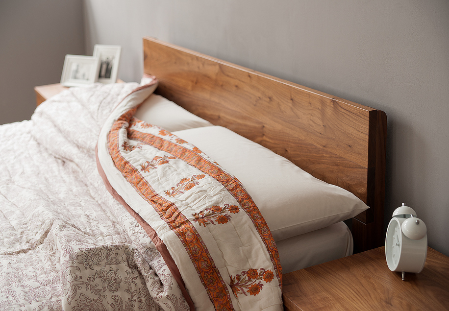 sahara contemporary wooden bed