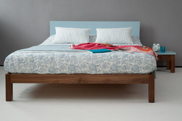 Sol coloured headboard bed