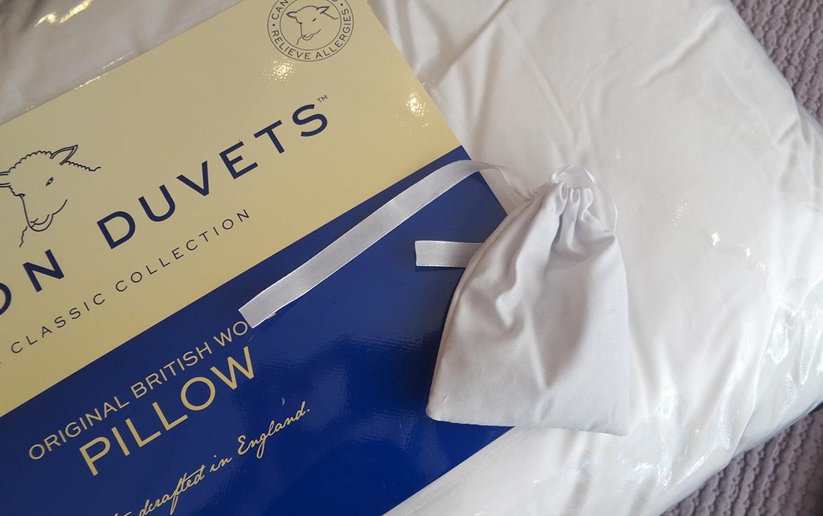 wool filled pillow & lavender bag