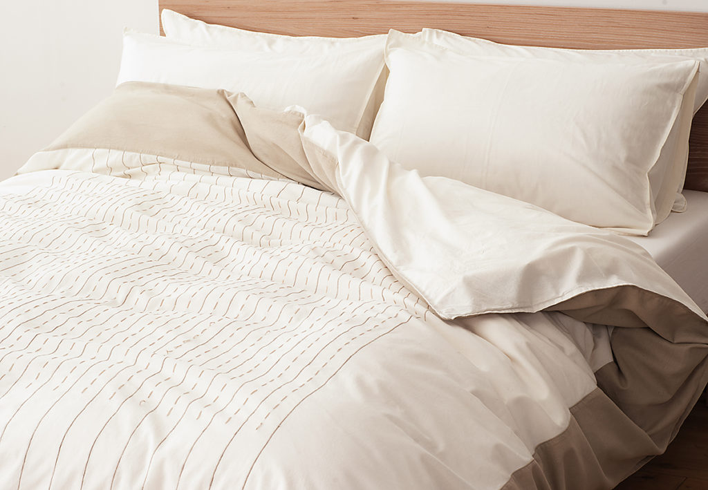 Indian cotton duvet cover natural