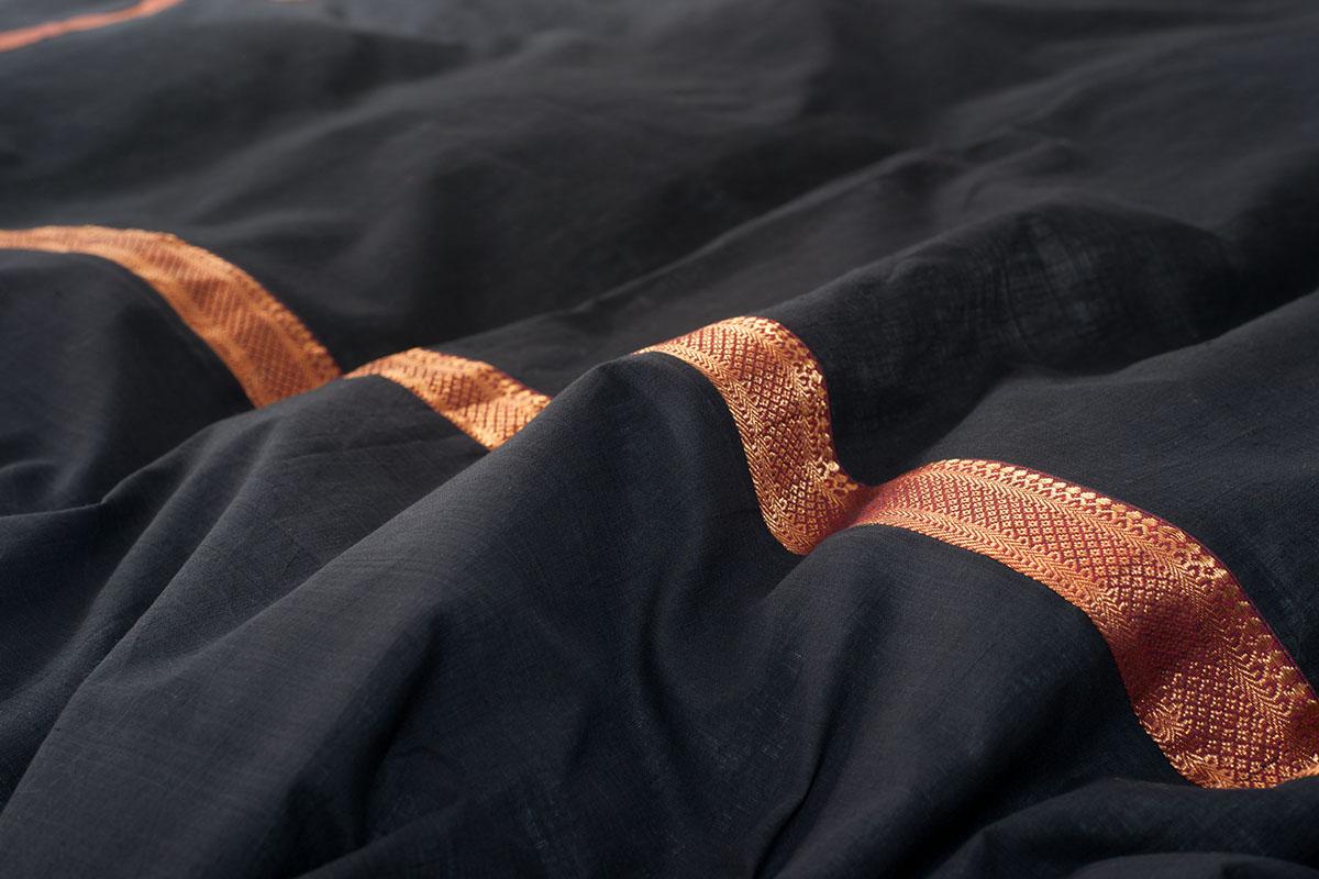 Zari Squares Black Duvet Cover