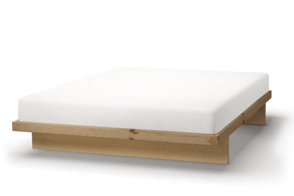 How our wooden Kyoto bed looks in Pine wood