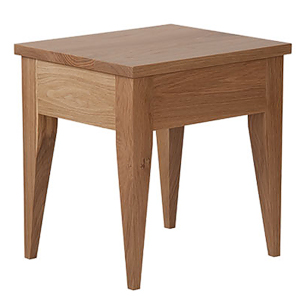 Designed to go with our solid wood Cochin bed this cochin bedside table is made in Oak.