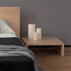 Oregon low solid wood bedside table