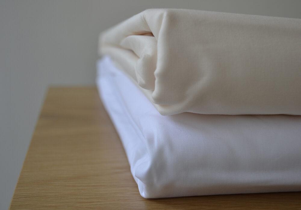 Egyptian cotton bedding, white & magnolia
