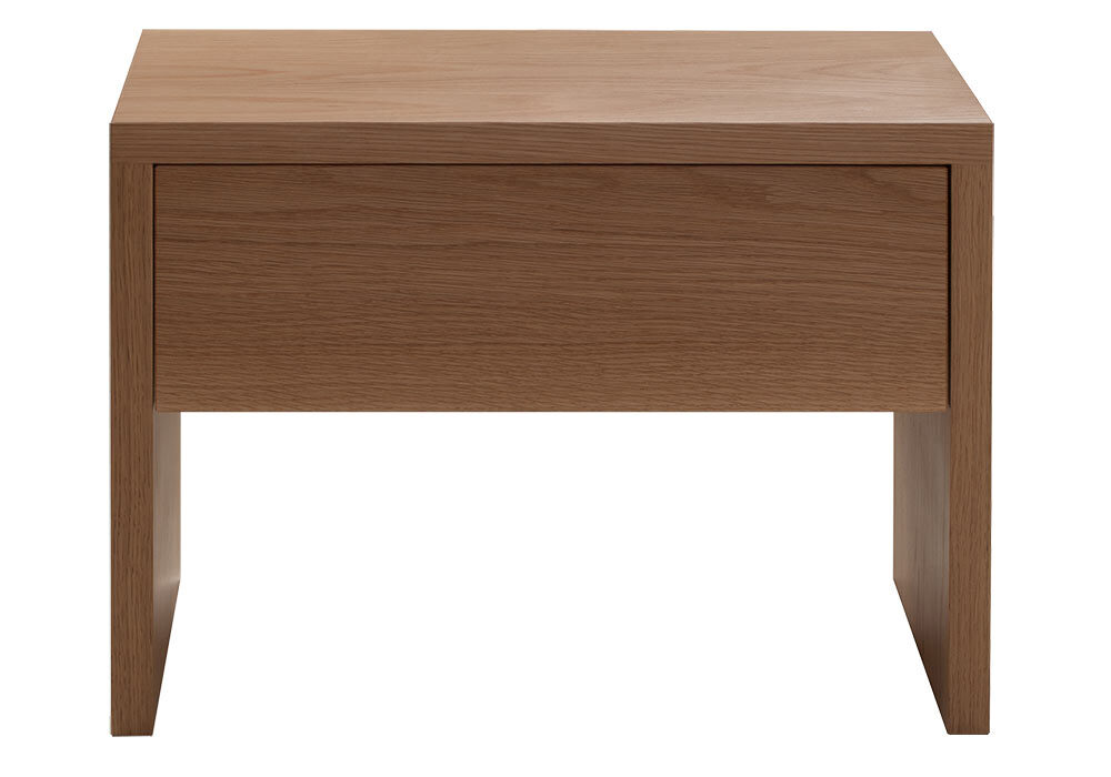 Designed to match our Kyoto bed the Kyoto bedside drawer table is shown in oak