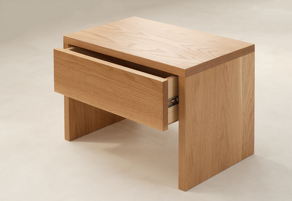 kyoto bedside table - drawer open