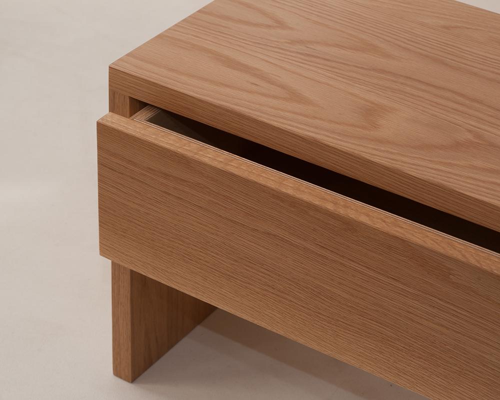 Oak Kyoto drawer table