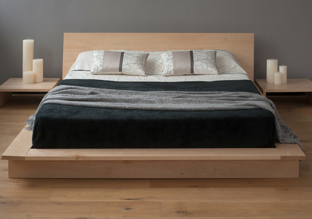 Oregon a low solid wood loft style bed available to order in a choice of wood