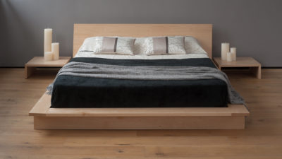 Oregon a contemporary low solid wood platform bed