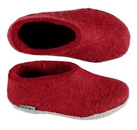 glerup shoe-style slipper in red