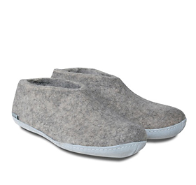 glerups shoe-style slipper in grey