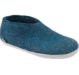 glerups shoe-style slipper in teal