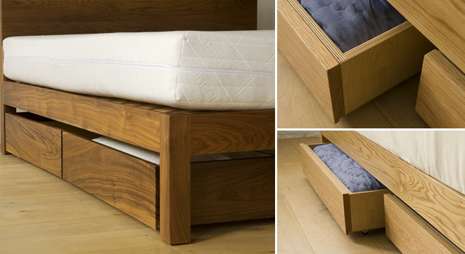 Under bed drawers storage natural bed company - Bedroom sets with drawers under bed ...