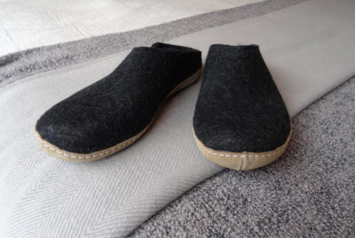 glerups slippers charcoal