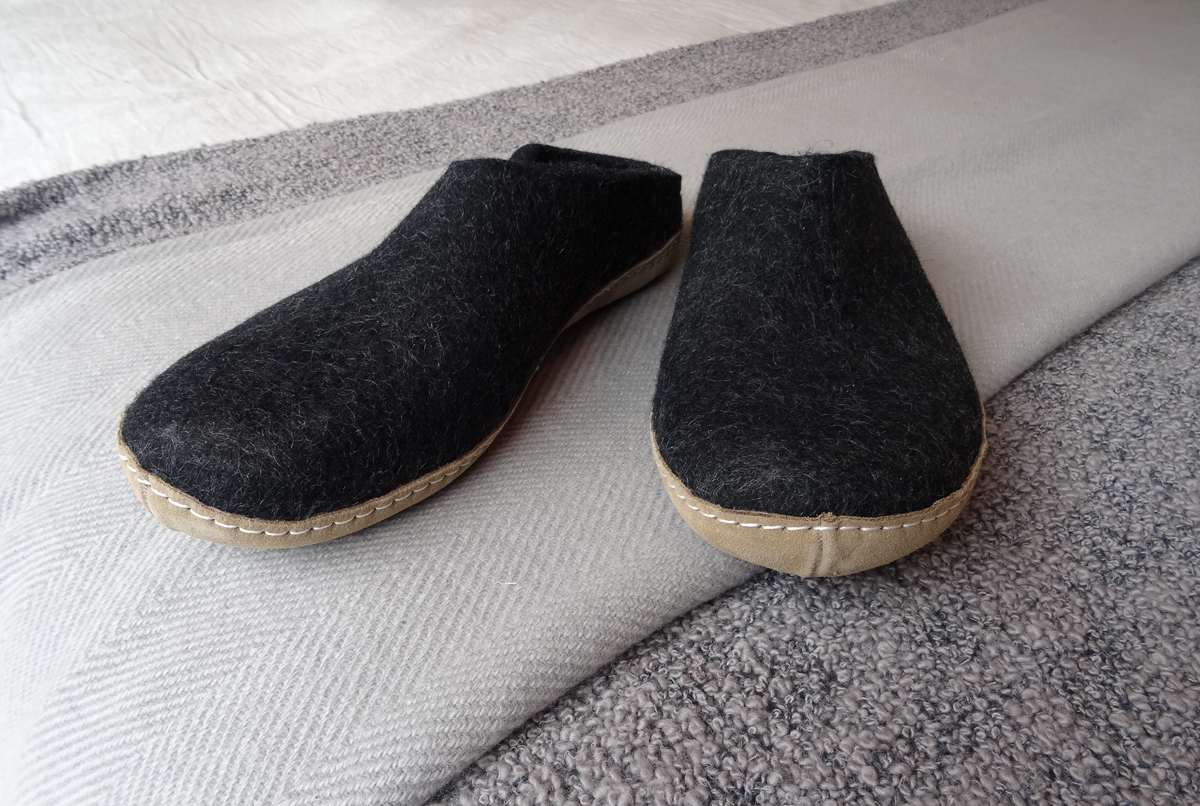 Glerups Felt Slippers Slippers Natural Bed Company