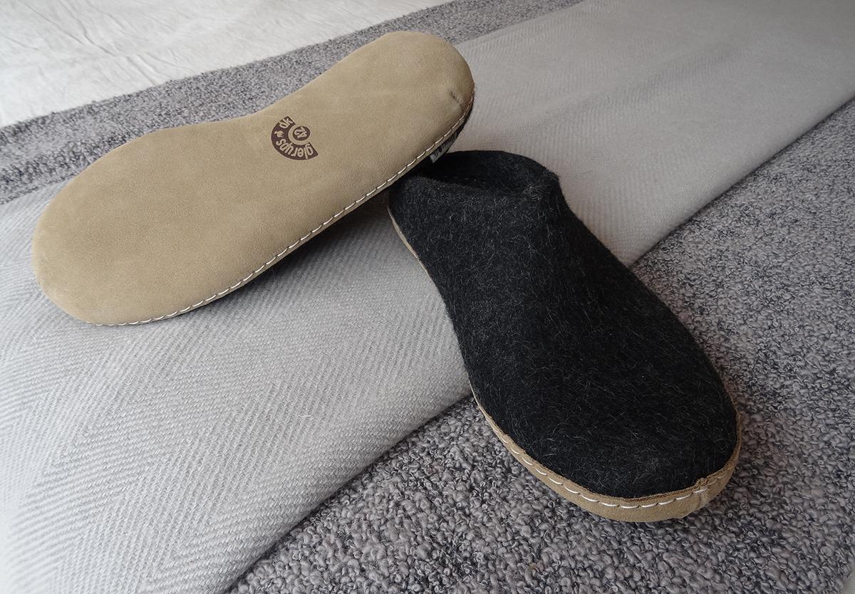glerups slippers charcoal
