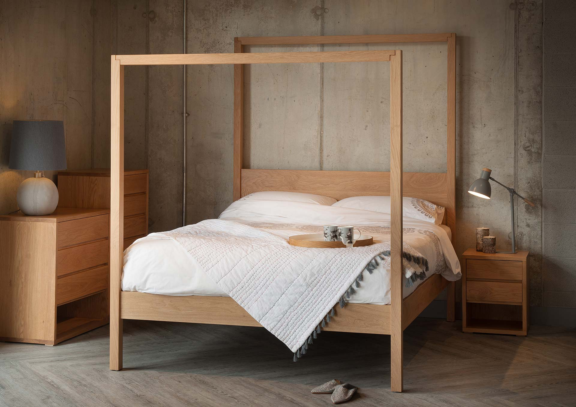 contemporary four poster bed  Oasis | Contemporary 4 Poster Bed | Natural Bed Company