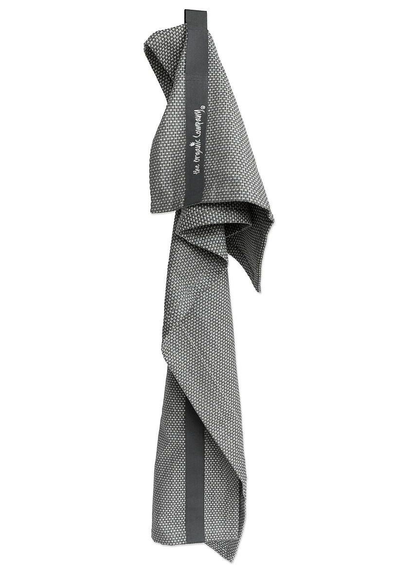 organic cotton Scandi style hand hair towel - dark