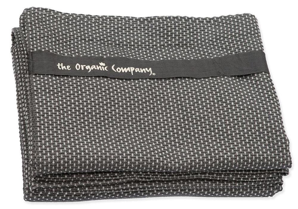 100% organic cotton wrap towel dark grey