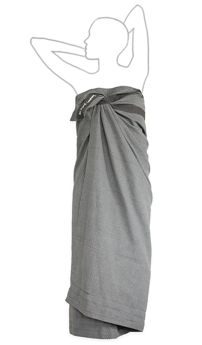 organic wellness towel - dark