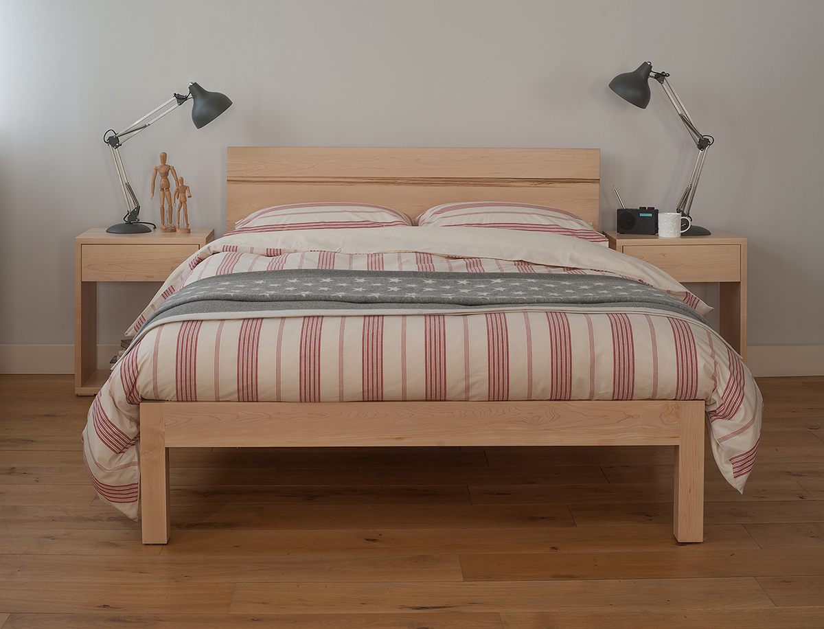 Tibet bed with new england bedding