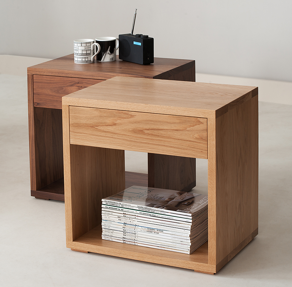 Wooden bedside cabinets natural bed company