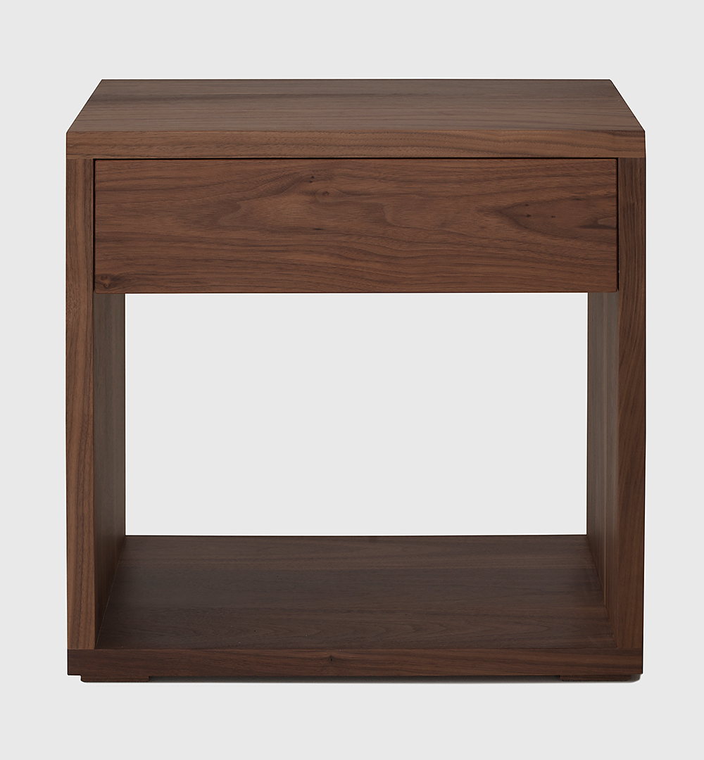 Modern classic NBC made Cube table in Walnut wood