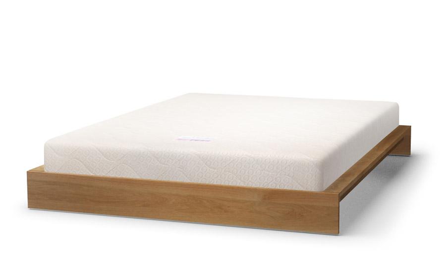 KI bed in oak