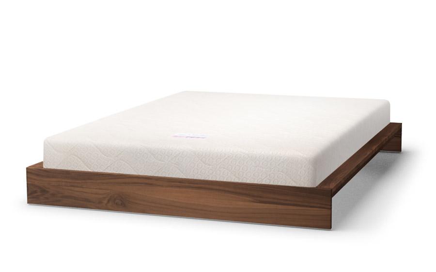 KI bed in walnut